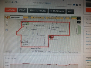 The Turkey Trot Route in Greensburg.